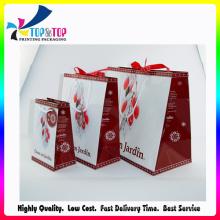 Erstklassiges Versorgungsmaterial-kundenspezifisches überzogenes Papier, das Art- und Weisegeschenk-Beutel faltet