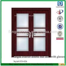 фанда внешний двойной двери МДФ со стеклами