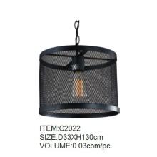 Zeitgenössische schwarze dekorative Metall Pendelleuchte (C2022)