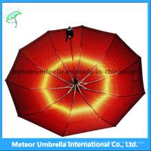 Die beste Art und Weise draußen reisen roter Regen, Sonnenschirm