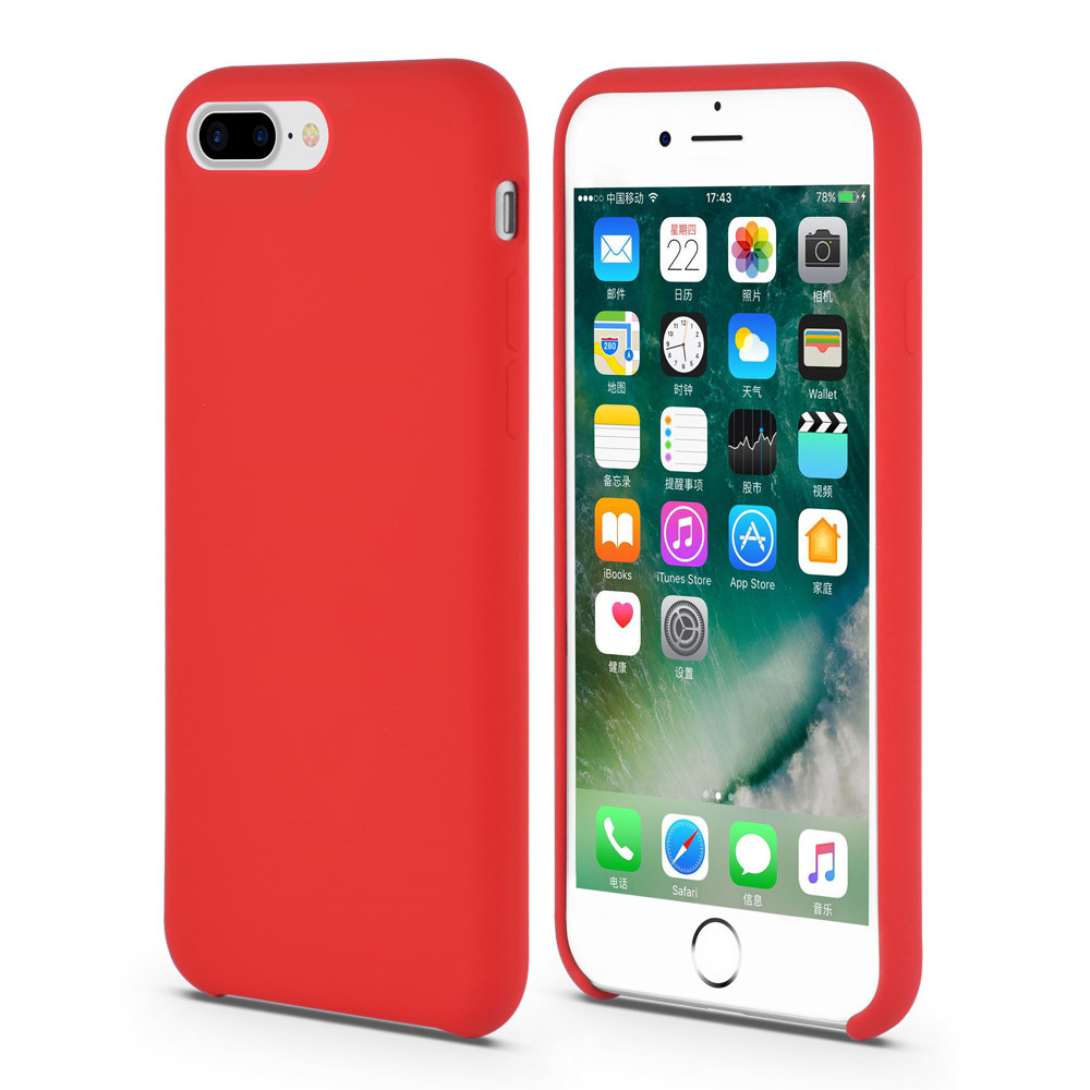 Red Liquid Silicone Rubber iPhone Case