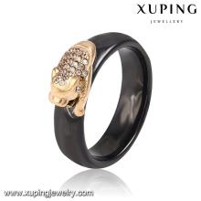 13903 Moda Xuping 18k banhado a ouro anel de dedo de jóias de aço inoxidável CZ com forma de dragão