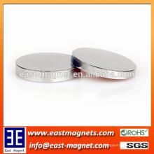 Caja de la joyería Imán sinterizado del disco del neodimio / níquel de encargo imán plateado del disco