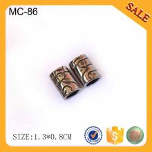 EC86 bloqueio do cabo para o vestuário, cabo de mola de metal fim de bloqueio, paragem de mola único furo string cordão de bloqueio