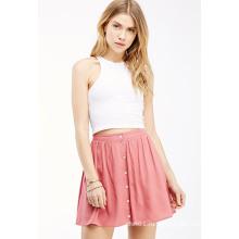 OEM моды Лучшая цена чистого цвета A-Line Женщины Юбка