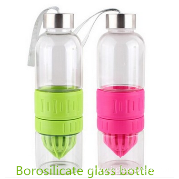 2016 new products glass water bottle with straw