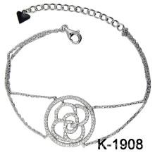 Jóia do diamante da forma Prata 925 (K-1908. JPG)