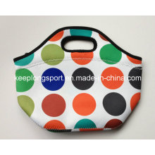 Fashionable Insulated Neoprene Picnic Cooler Bag with Sublimation Colors Printing
