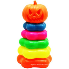 Pumpkin Retaining Ring Halloween Folding Jenga Toy