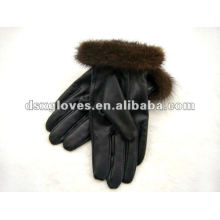 Dress Gloves in lady style with fur wrist