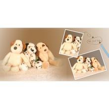 Brinquedos de pelúcia cão bonito