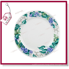 8′′ Ceramic Plate with Design Beans Flower