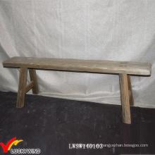 Antiguo francés antiguo taburete de madera de largo Banco