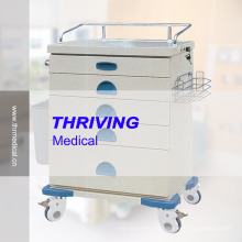 Medical Colored Steel Plate Drawer Trolley (THR-ZY105)