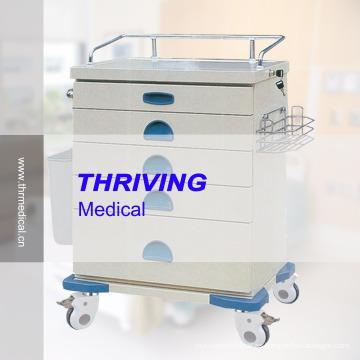 Carrito médico del color de la placa de acero (THR-ZY105)