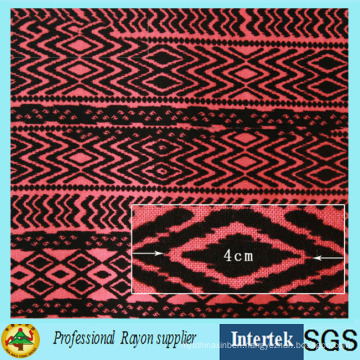 Plain Woven Printed Rayon Fabric in Textile Factory