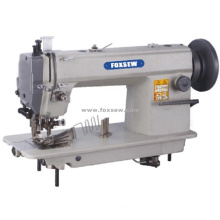 Máquina de pespunte de alta resistencia de alimentación superior e inferior con cortador lateral y encuadernador de cinta