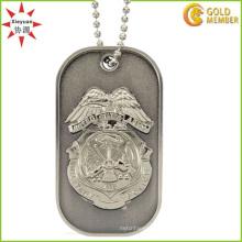 Étiquette de chien militaire en métal personnalisé