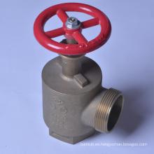 Válvula de manguera de incendio de ángulo NST macho 2 1/2 NPTX 2 1/2 macho Certificación UL / FM Válvula de manguera de incendio angular