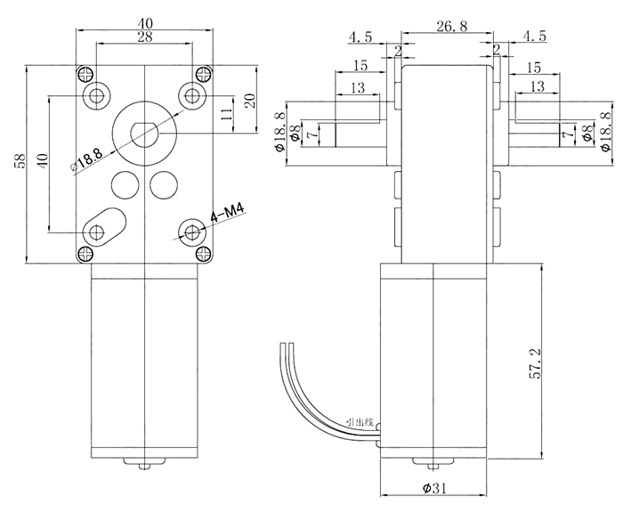 dc motor with encoder