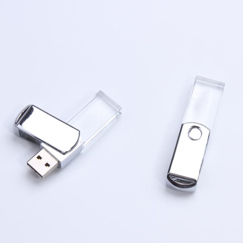 Transparent Crystal Swivel Usb