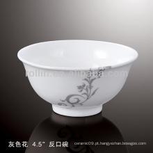 Saudável, durável, branca, porcelana, forno, seguro, cinzento, flor, dinnerware