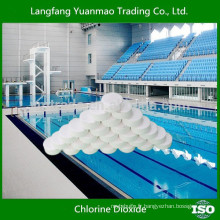 Tablette de dioxyde de chlore pour les fongicides de traitement de piscine de natation fabriqués en Chine