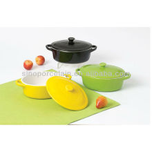 color glazed oval ceramic casserole for BS12074