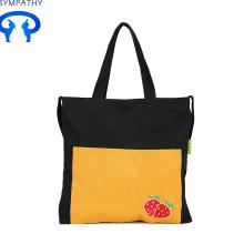 सरल हाथ के कपड़े के साथ कस्टम कैनवास बैग