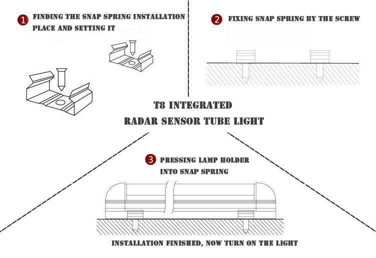 led tube lamp with sensor