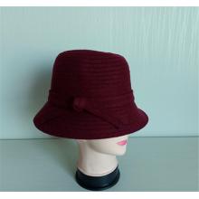 Sombreros casuales de la cinta de la trenza de la tela de la lana polivinílica de las mujeres