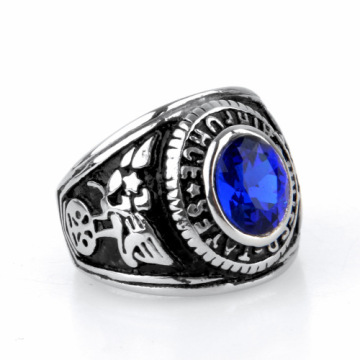 Antike blaue Edelstein Finger Ring Designs