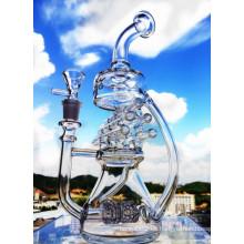 2016 Hbking Reciclador de vidrio de tuberías de agua Pyrex de vidrio de tubos de fumar Swiss Perc Pipe