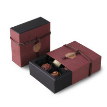 Boîte d'emballage de chocolat jetable en papier kraft
