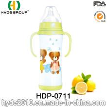 Botella de leche del alimentador del bebé del acero inoxidable recién 200ml (HDP-0711)