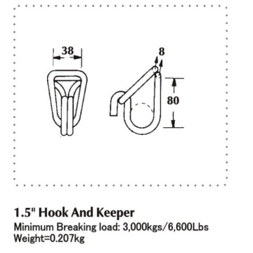 38mm szerokość Swan Hook Breaking Load 3000 KG
