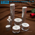 Eye-like oval shape OEM service provided good quality wholesale empty cosmetics cream acrylic bottle and jar