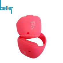 Pulseira pulseira com estampa de borracha de silicone personalizada para promoção