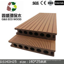 G & S verde y eco-amigable de plástico de madera compuesto decking piso / wpc tablas de terraza