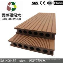 G & S green and eco-friendly en bois composite de plancher de plancher / wpc decking boards
