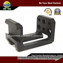 Black 5 Axis CNC Machine Aluminum 6061 Anodized Part