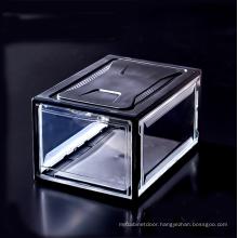 Wholesale Custom Stackable Plastic Magnetic Drop Front Shoe Box