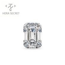 ForeverFlame G H 5ct 8mm*11mm vvs Emerald Cut diamond CVD CZ Moissanite engagement ring couples
