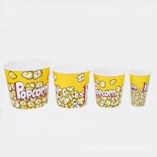 6 Größen erhältlich Kunststoff Popcorn Eimer (B06-A1)