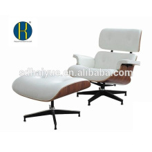 2018 Factory White and Black Real Leather Replica Lounge Chair With Ottoman Available in Rosewood, Walnut wood, Ash wood...