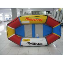 Moda crianças criança brinquedo inflável de PVC barco com Airpillow