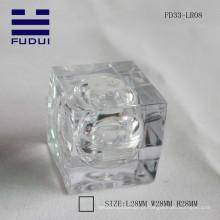 Venda quente! 2015 atraente claro tubo de bálsamo lábio quadrado transparente feita na China para atacado