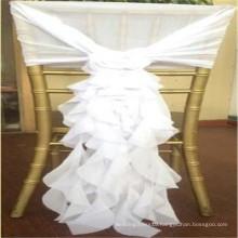 2018 European American elegant fashion wedding hotel party chair sash hood ruffled chiffon chair sash