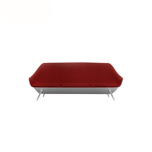 Contemporary Linen Upholstered Loveseat Fiberglass Sofa