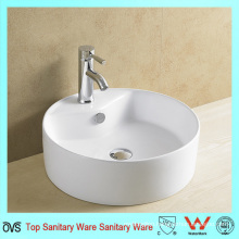 Round Ceramic Art Basin with Faucet Hole